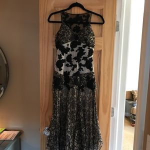 Sue Wong beaded gown.